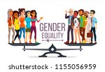 gender equality vector.... | Shutterstock .eps vector #1155056959
