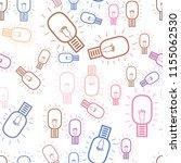 seamless artistic bulb hand... | Shutterstock .eps vector #1155062530