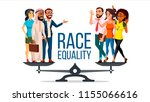 race equality vector. standing... | Shutterstock .eps vector #1155066616