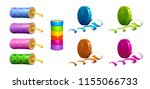 firecrackers and colorful... | Shutterstock .eps vector #1155066733