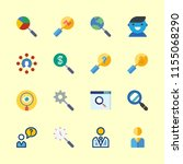 seo icons set. geek  cell ... | Shutterstock .eps vector #1155068290