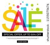 big sale template banner ... | Shutterstock .eps vector #1155075676