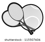 champion tennis | Shutterstock .eps vector #115507606