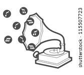 vintage music | Shutterstock .eps vector #115507723