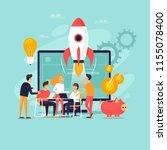 startup  teamwork  internet... | Shutterstock .eps vector #1155078400