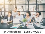 young business people meeting... | Shutterstock . vector #1155079213