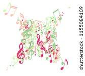 musical signs. trendy... | Shutterstock .eps vector #1155084109