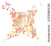 musical signs. modern... | Shutterstock .eps vector #1155084136