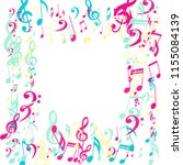 square frame of musical signs.... | Shutterstock .eps vector #1155084139