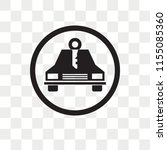 car rental vector icon isolated ... | Shutterstock .eps vector #1155085360