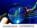 charts of financial instruments ...   Shutterstock . vector #1155090076