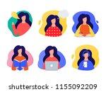 speaking  thinking  writing ... | Shutterstock .eps vector #1155092209