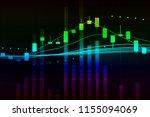 stock market graph chart. the...   Shutterstock . vector #1155094069