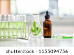 flask of water green solution... | Shutterstock . vector #1155094756