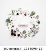 winter holidays greeting card...   Shutterstock . vector #1155098413