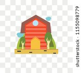barn vector icon isolated on... | Shutterstock .eps vector #1155098779