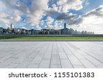 empty floor with modern... | Shutterstock . vector #1155101383