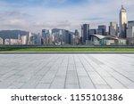 empty floor with modern... | Shutterstock . vector #1155101386
