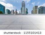 empty floor with modern... | Shutterstock . vector #1155101413