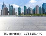 empty floor with modern... | Shutterstock . vector #1155101440