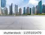 empty floor with modern... | Shutterstock . vector #1155101470
