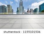 empty floor with modern... | Shutterstock . vector #1155101536