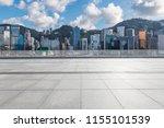 empty floor with modern... | Shutterstock . vector #1155101539