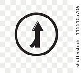 left intersection vector icon... | Shutterstock .eps vector #1155105706