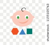 childhood vector icon isolated...   Shutterstock .eps vector #1155105763