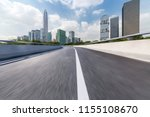 empty road with modern business ... | Shutterstock . vector #1155108670
