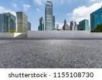 empty road with modern business ... | Shutterstock . vector #1155108730