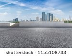 empty road with modern business ... | Shutterstock . vector #1155108733