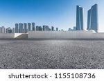 empty road with modern business ... | Shutterstock . vector #1155108736