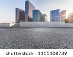 empty road with modern business ... | Shutterstock . vector #1155108739