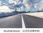 empty road with modern business ... | Shutterstock . vector #1155108940