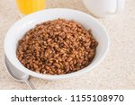 chocolate flavoured crispy rice ... | Shutterstock . vector #1155108970