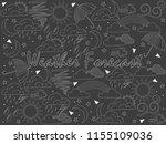 objects of linear art piece of... | Shutterstock .eps vector #1155109036