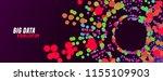 big data visualization. digital ... | Shutterstock .eps vector #1155109903