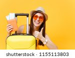 traveler tourist woman in... | Shutterstock . vector #1155113803