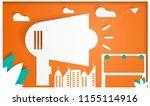 public relations paper art ... | Shutterstock .eps vector #1155114916