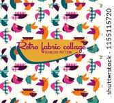 seamless vintage pattern  retro ... | Shutterstock .eps vector #1155115720