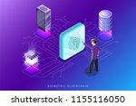 biometric blockchain flat...   Shutterstock .eps vector #1155116050