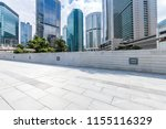 empty floor with modern... | Shutterstock . vector #1155116329