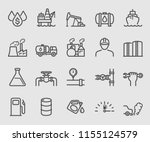 line icons set for oil industry | Shutterstock .eps vector #1155124579