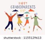 happy grandparents day...   Shutterstock .eps vector #1155129613