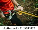 man preparing carbines on a... | Shutterstock . vector #1155130309