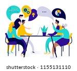 flat style vector illustration  ... | Shutterstock .eps vector #1155131110