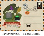 happy halloween vector... | Shutterstock .eps vector #1155132883
