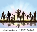 families are looking forward to ... | Shutterstock . vector #1155134146