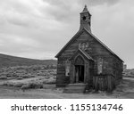 an old church in the ghost town ... | Shutterstock . vector #1155134746